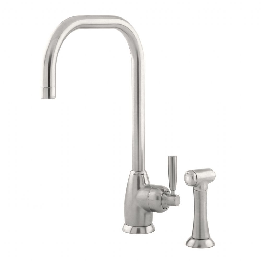 4848 Perrin & Rowe Mimas U Spout Sink Mixer Tap Single Lever Handle And Rinse